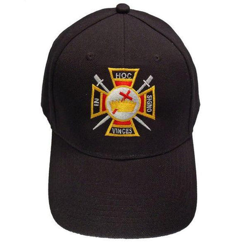 Knights Templar Masonic Baseball Cap - Regalialodge