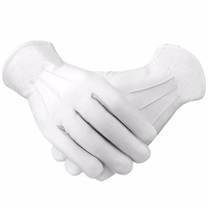Masonic Soft Leather Gloves Plain - Regalialodge