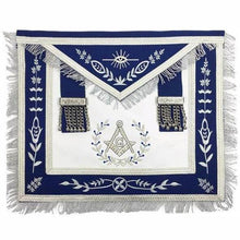 Load image into Gallery viewer, Masonic Blue Lodge Master Mason Silver Machine Embroidery Freemasons Apron - Regalialodge
