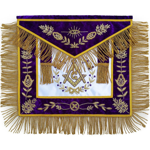 Masonic Grand Lodge Master Mason Apron Hand Embroidered - Regalialodge