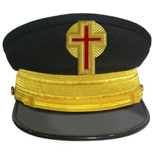 Load image into Gallery viewer, Knights Templar Dress Caps without Vinework and with Gold Braid - Regalialodge