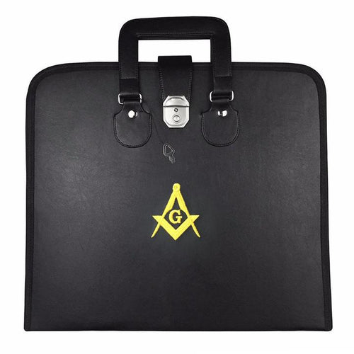 Masonic MM/WM and Provincial Full Dress Apron Yellow Square Compass Cases - Regalialodge