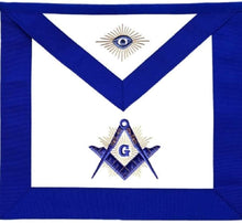 Load image into Gallery viewer, Masonic Master Mason Blue Lodge Apron With Radiant G