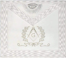 Load image into Gallery viewer, Hand Embroidered Masonic Master Mason Apron White