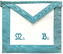 Load image into Gallery viewer, Master Mason French Rite/Modern Rite Lambskin Apron - Sky Blue