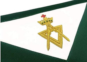 Allied Masonic Degree AMD Member Hand Embroidered Apron