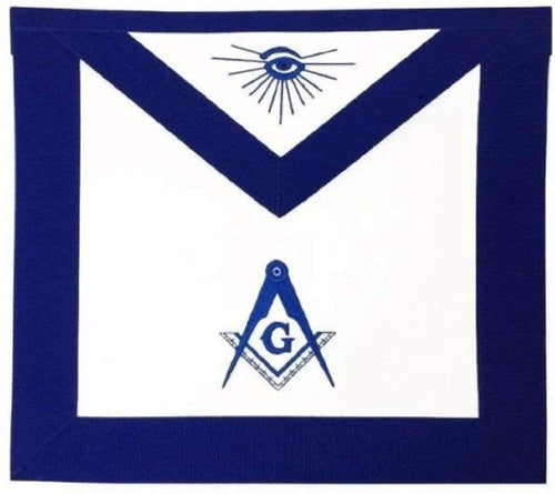 Masonic Blue Lodge Master Mason Apron Machine Embroidery Navy