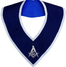 Load image into Gallery viewer, Masonic Master Mason Collar Blue Velvet Hand Embroidered