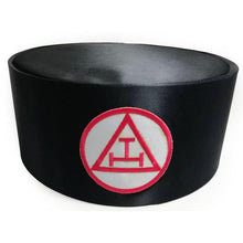 Load image into Gallery viewer, Royal Arch Masonic Triple Tau Cap Black - Regalialodge