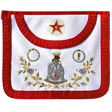 Load image into Gallery viewer, Masonic Scottish Rite AASR Round Satin apron 18th degree - Regalialodge