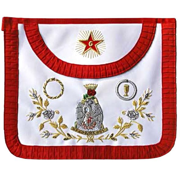 Masonic Scottish Rite AASR Round Satin apron 18th degree - Regalialodge