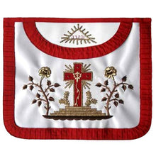 Load image into Gallery viewer, Masonic Scottish Rite Satin Round apron - AASR - 18th degree - Regalialodge