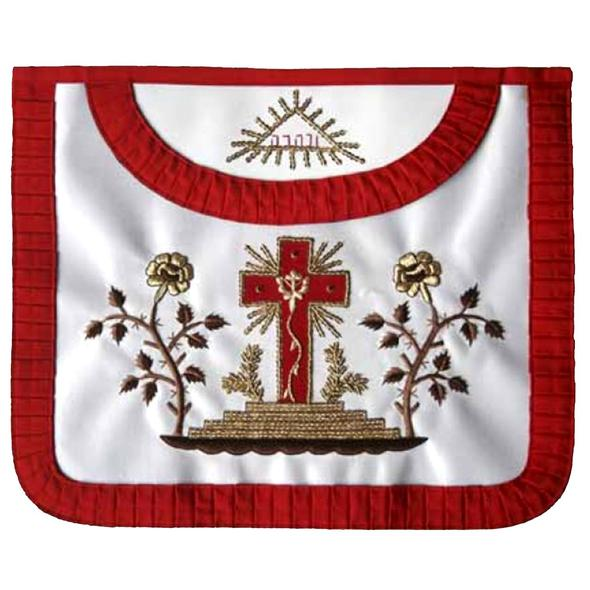 Masonic Scottish Rite Satin Round apron - AASR - 18th degree - Regalialodge