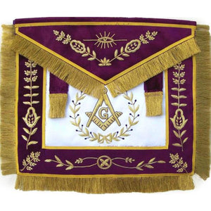 Masonic Grand Lodge Master Mason Apron Bullion Hand Embroidered - Regalialodge