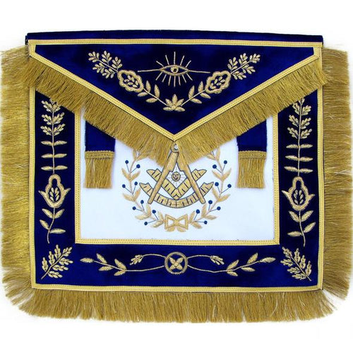 Masonic Grand Lodge Past Master Apron Hand Embroidered Bullion - Regalialodge