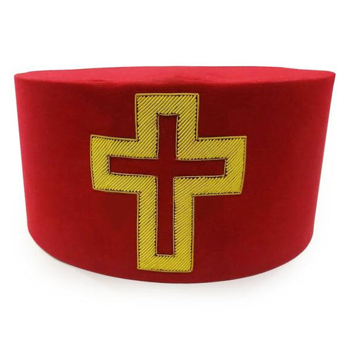 Masonic Knight Templar Sir Knight Passion Cross Cap Hat Crown - Regalialodge