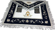 Load image into Gallery viewer, Masonic Past Master Apron Gold and Silver Hand Embroidery Apron