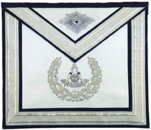 Load image into Gallery viewer, Masonic Past Master Silver Hand Embroidered Freemasons Apron