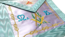 Load image into Gallery viewer, Master Mason French Rite/Modern Rite Pyramid Silk Apron - Sky Blue