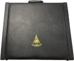 Masonic Regalia MM/WM and Provincial Past Master Apron Briefcase with Yellow Embroidery