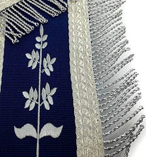 Load image into Gallery viewer, Masonic Blue Lodge Past Master Silver Machine Embroidery Freemasons Apron