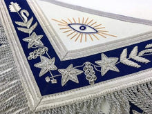 Load image into Gallery viewer, Masonic Grand Lodge Past Master Apron Gold & Silver Hand Embroidery Apron