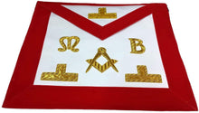 Load image into Gallery viewer, Masonic Hand Embroidered Bullion & Wire Made Master Mason Red Apron