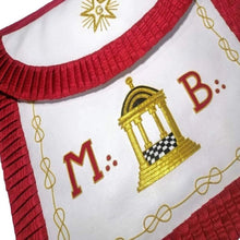 Load image into Gallery viewer, Masonic Scottish Rite Round Apron - AASR - Master Mason - MB Temple