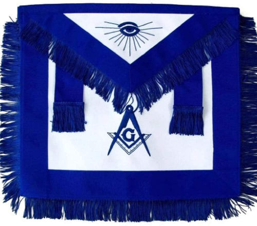 Masonic Master Mason Blue Lodge Apron Blue With Fringe
