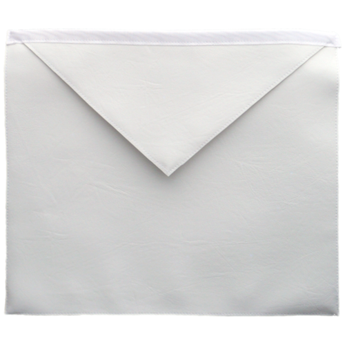 Masonic Regalia craft entered Apron white, good quality Imitation leather - Regalialodge