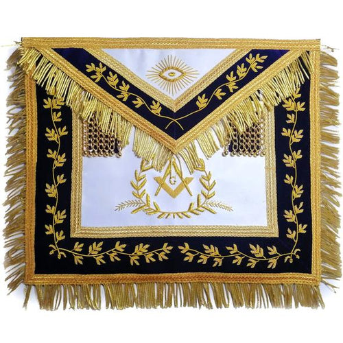 Grand Master Apron Bullion Hand Embroidered Vine Work - Regalialodge