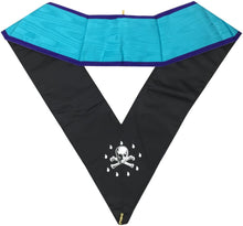 Load image into Gallery viewer, Masonic Memphis Misraim Worshipful Master Collar Hand Embroidered