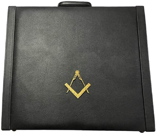 Masonic Regalia MM/WM and provincial Apron Briefcase with Yellow Square and Compass