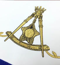 Load image into Gallery viewer, Masonic Blue Lodge 14th Degree Machine Embroidered Lambskin Apron
