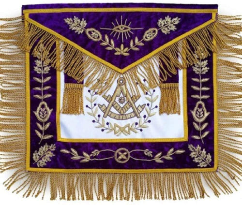Masonic Grand Lodge Past Master Apron Bullion Hand Embroidered