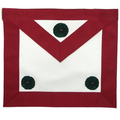 Knight Mason Apron Maroon - Regalialodge