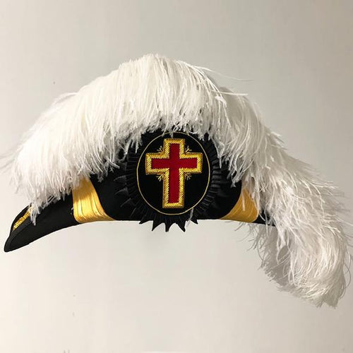 Knights Templar Past/Grand Commander Chapeau - DELUXE Fur Felt - Flat Body - Regalialodge