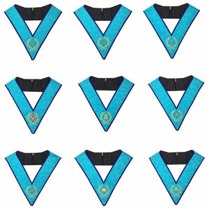 Memphis Misraim Officer Collars Machine Embroidery Set - Set of 9 Collar - Regalialodge