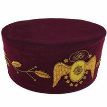 Load image into Gallery viewer, 95th Degree Scottish Rite Hand Embroidered Masonic Cap - Regalialodge