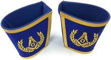 Load image into Gallery viewer, Blue Lodge Master Mason Apron Set Apron,Collar gauntlets (Cuffs)