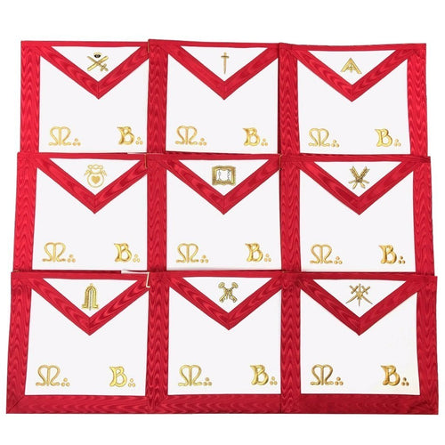 Masonic Scottish Rite Officers Apron AASR (REAA) - Set of 9 - Regalialodge