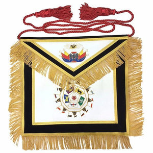 Masonic SCOTTISH RITE 32nd Degree Apron Hand Embroidery Master of Royal Secret - Regalialodge