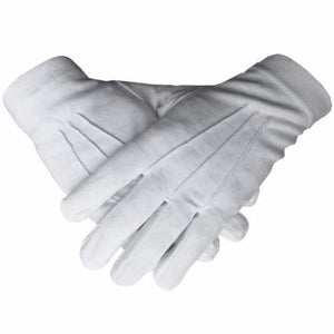 Masonic Regalia 100% Cotton White Gloves Plain - Regalialodge