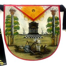 Load image into Gallery viewer, Hand-Painted Masonic Lambskin Apron