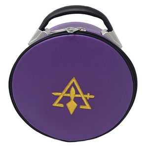 Cryptic Royal & Select Masonic Hat/Cap Case Purple - Regalialodge