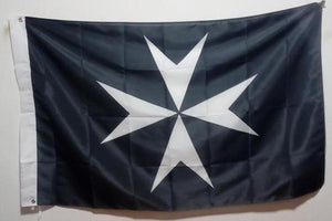 Knights of Malta Masonic Flag Black - Regalialodge