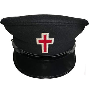 Knights Templar Dress Caps Black Silver - Regalialodge