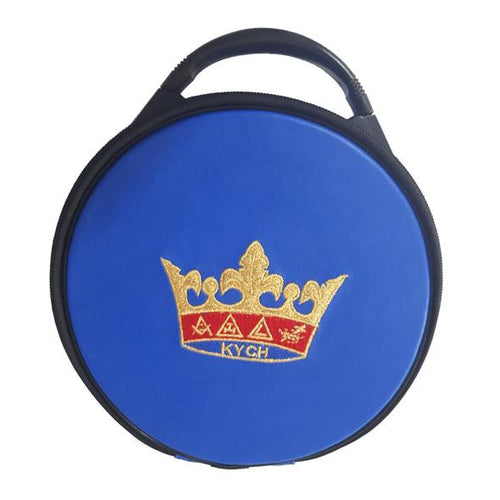 Masonic Knights of the York Cross of Honour Hat/Cap Case Blue - Regalialodge