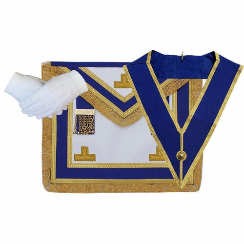 Masonic Craft Provincial Full Dress Apron and Collar with free Glove - Regalialodge
