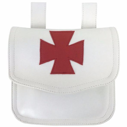 Knight Templar Alms Bag White - Regalialodge